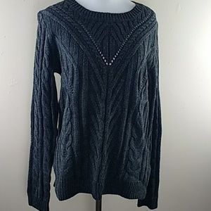 Womens Hippie Rose Charcoal Grey Sweater Sz M